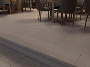 Pavimento de gres porcelánico efecto piedra MILÁN ARENA