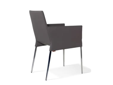 Upholstered wooden chair MILA | Chair with armrests