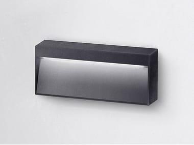 Segnapasso a LED a parete in alluminio verniciato a polvere per esterni MILA M