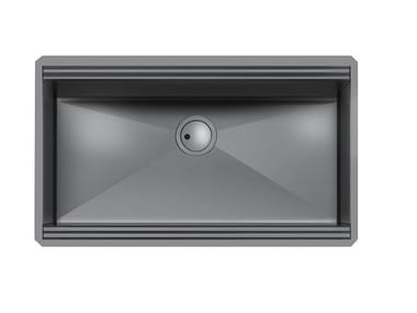 Single undermount stainless steel sink MILANELLO 750X374 S/TOP GUNMETAL