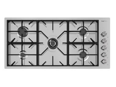 Gas flush-mount stainless steel hob MILANO 5G DC CENT. FT INOX