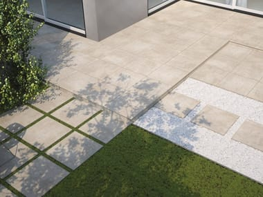 Porcelain stoneware outdoor floor tiles with stone effect MILANO CITY | Outdoor floor tiles