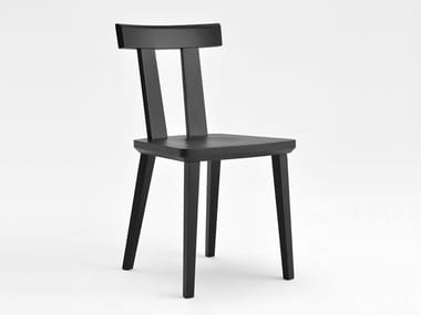Lacquered wooden chair MILANO | Lacquered chair