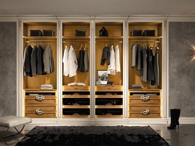 Classic style walk-in wardrobe MILANO | Walk-in wardrobe