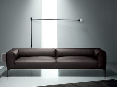 Leather sofa with removable cover MILES | Leather sofa