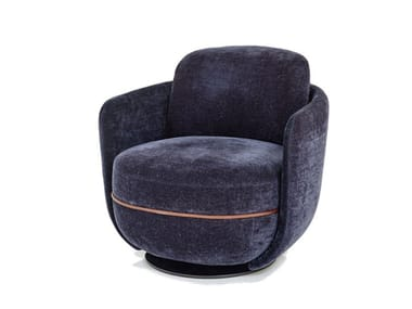Swivel fabric armchair MILES | Swivel armchair