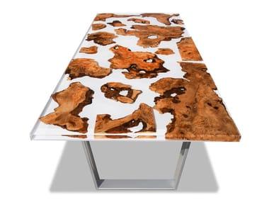 Tavolo rettangolare in radica MILK