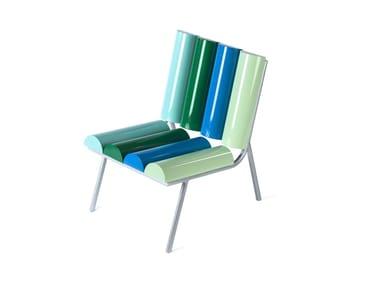Aluminium armchair MILKY