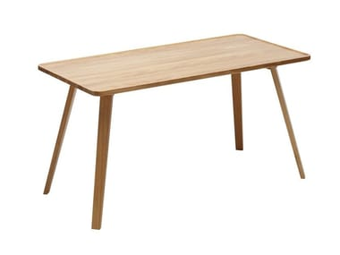 Rectangular solid wood dining table MILL | Dining table