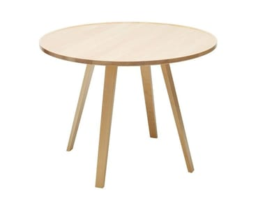 Round wooden table MILL | Round table