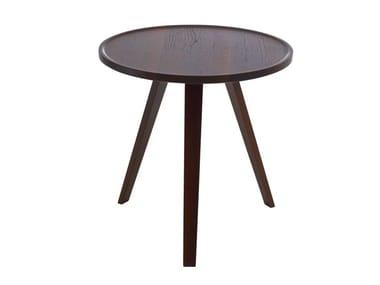 Mesa de apoio redonda de madeira maciça MILL | Mesa de apoio