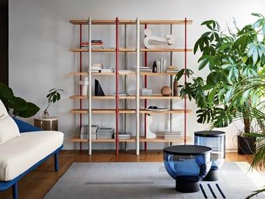 Freestanding wooden bookcase MILONGA