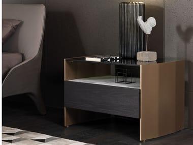 Rechteckiger Nachttisch mit Schubladen MILVIAN   Nachttisch