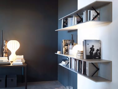Die cast aluminium bookcase / wall shelf MIMÌ