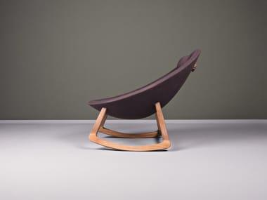 Charming Ergonomic High Back Rocking Wooden Armchair MINAS | Rocking Armchair