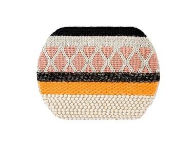 Striped wool rug MINI CARAMELO