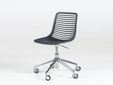 Height-adjustable Nylon® chair with 5-spoke base with casters MINI DESK