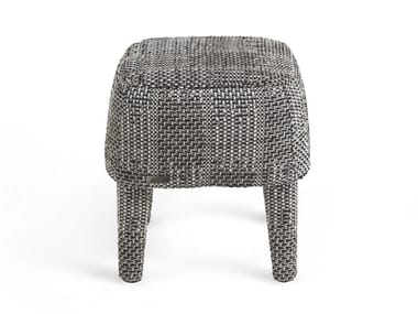 Low upholstered fabric stool MINI