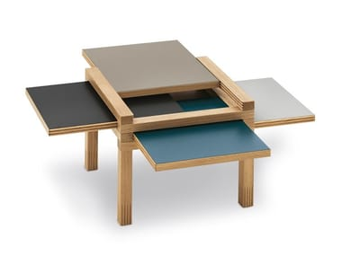 Low solid wood coffee table MINI PAR4