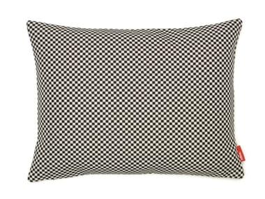 Cuscino a motivi rettangolare in tessuto MINICHECK BLACK/WHITE