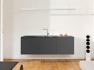Wall-mounted HPL Mini kitchen MINIKI SLIMLINE LIGHT