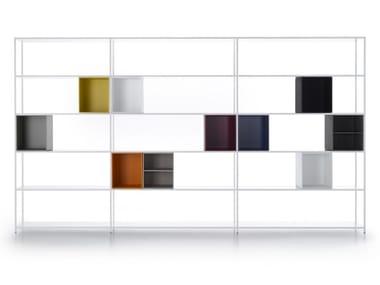 Open aluminium bookcase MINIMA 3.0 SYSTEM