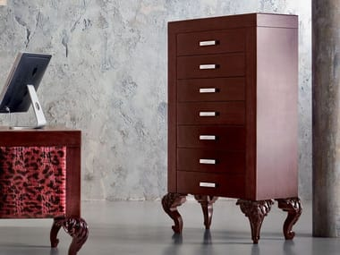 Wooden office drawer unit MINIMAL BAROQUE | Office drawer unit