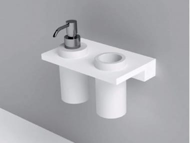 Wall Mounted Corian Bathroom Wall Shelf UNICO | Corian® Bathroom Wall Shelf