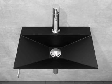 Stainless steel handrinse basin with towel rail MINIMAL