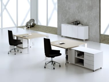 Multiple steel and wood office workstation MINIMAX | Office workstation
