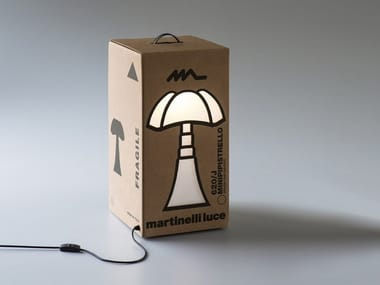 Lampada da tavolo a LED in cartone MINIPIPISTRELLO CARTONE