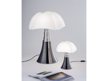 Titanium table lamp MINIPIPISTRELLO TITANIUM VERSION