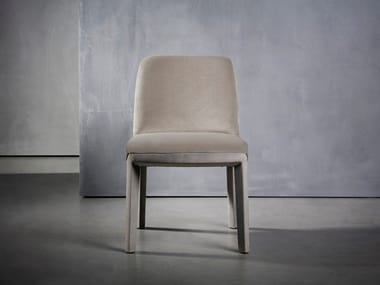 Upholstered fabric chair MINNE | Chair