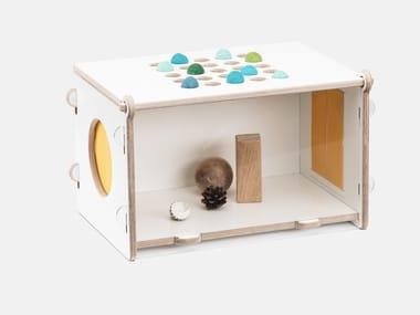 Plywood sensory guessing box MIRABU