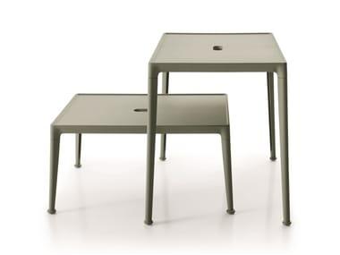Rectangular aluminium garden side table MIRTO OUTDOOR | Coffee table