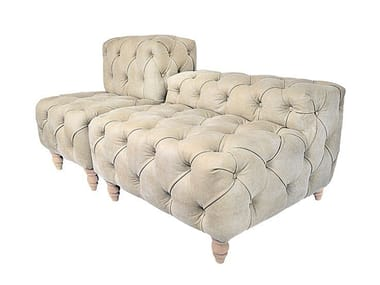 Tufted modular leather bench MISS CHESTER | Bench