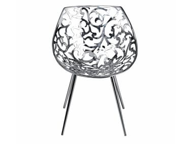 Stainless steel chair MISS LACY | Stainless steel chair