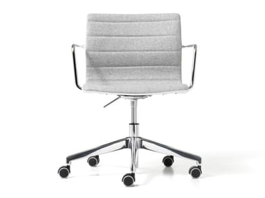 Fabric office chair with 5-Spoke base with castors MISS   Office chair with 5-Spoke base