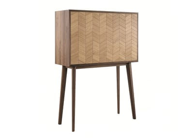 Solid wood sideboard with flap doors MISTER