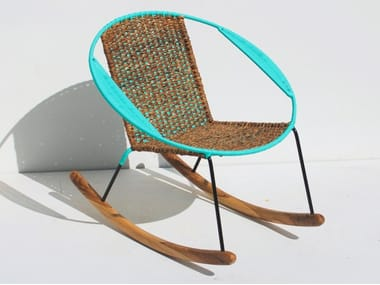 Rocking Easy Chair With Armrests TUCURINCA MITI   MITI   Rocking Easy Chair