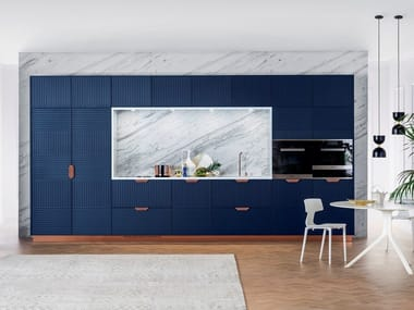 Lacquered linear kitchen MIUCCIA | Kitchen