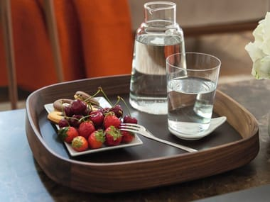 Square walnut tray MIX | Tray