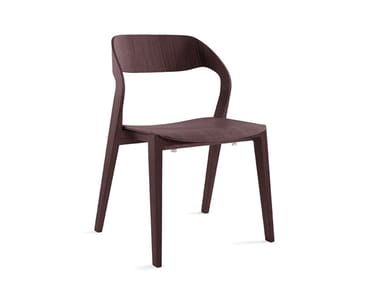 Stackable wooden chair MIXIS RS