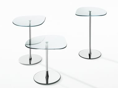 Crystal and steel coffee table MIXIT GLASS