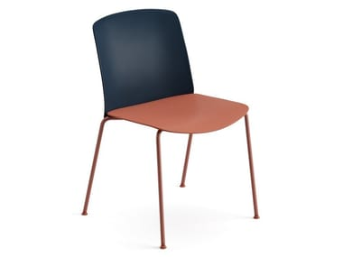 Polypropylene and plywood stackable chair MIXU   Chair