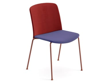Upholstered stackable fabric chair MIXU | Upholstered chair