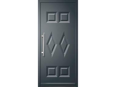 Glass and aluminium armoured door panel MIZAR