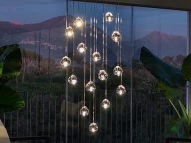 LED or halo crystal pendant lamp MIZU