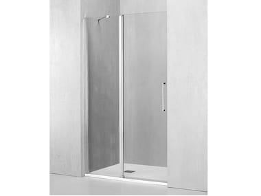 Box doccia a nicchia con porta a battente MO-PBA