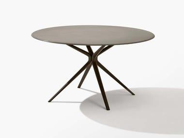 Round stone garden table MOAI | Stone table